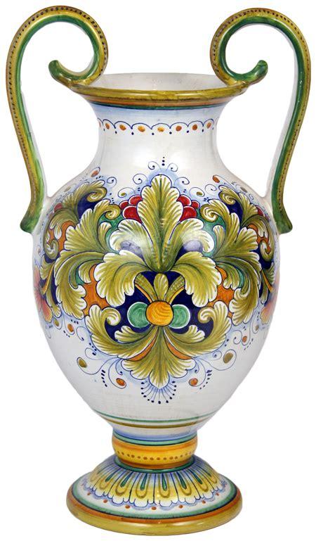 italian ceramic handled vase