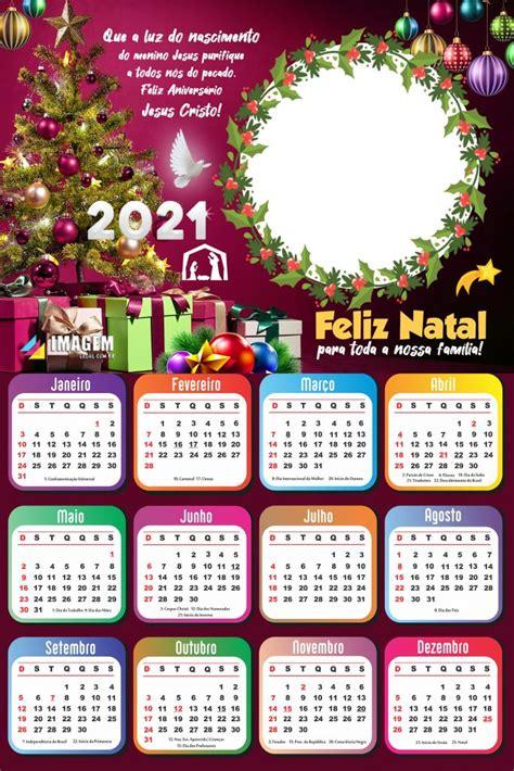 moldura calendario  de natal  montagem de foto