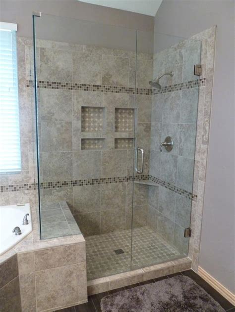 contemporary bathroom  dallas detailed tile shower