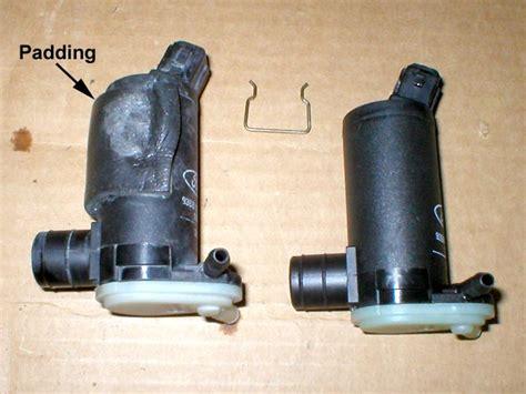 removing windshield washer pump    ford fiesta