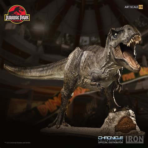 limited edition jurassic park  rex statue unveiled ign