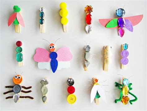 7 New Wooden Clothespin Kids Crafts diy Thought