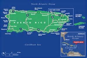 El Yunque Rainforest Puerto Rico Map