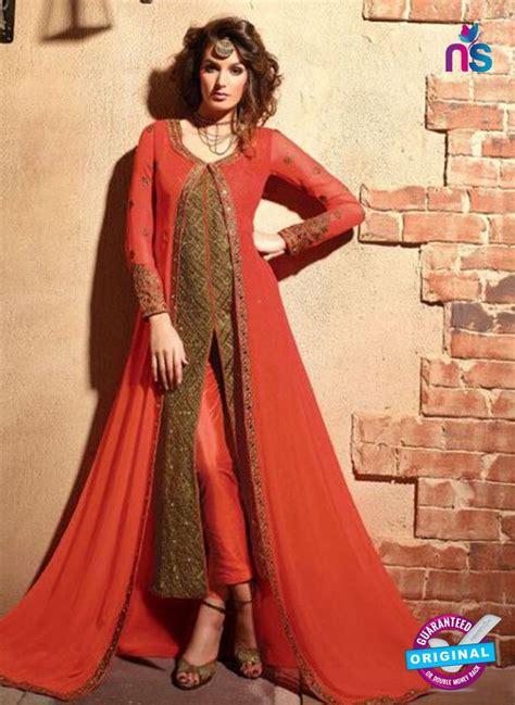 maskeen  orange  brown color georgette designer