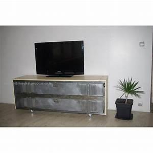 Meuble Tv Casier Industriel : industriel ~ Nature-et-papiers.com Idées de Décoration