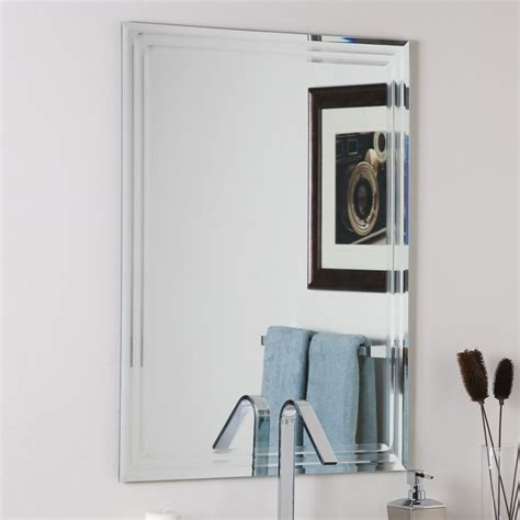 bathroom wall mirror shop decor 23 6 in x 31 5 in rectangular