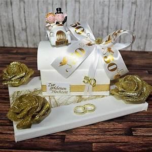 Geschenke Für Hochzeit : geschenk zur goldenen hochzeit truhe auf geschenkplatte ~ A.2002-acura-tl-radio.info Haus und Dekorationen