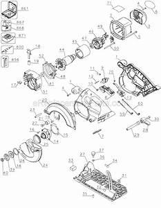 Dewalt dc390k parts list and diagram type 1 for Circular saw diagram