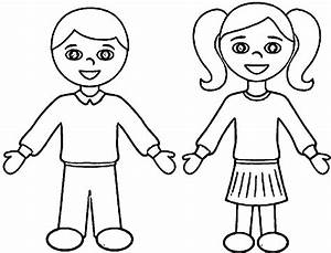 Girls And Boys Coloring Pages Printable