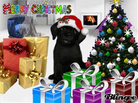 merry christmas foo black lab picture 102795531 blingee com