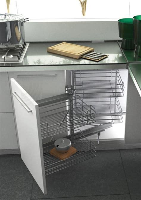 balitrand cuisine étagère extractible pour angle bas chromée dim
