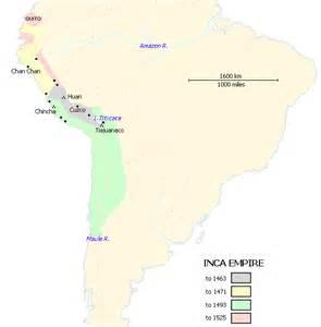 Aztec and Inca Civilization Map