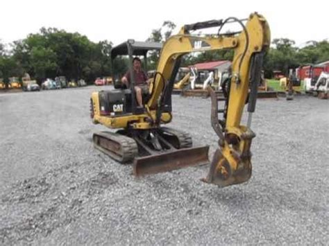 caterpillar  mini excavator  hydraulic thumb youtube