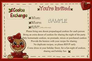 rose petal hollow cookie exchange the invitation With cookie swap invitation template