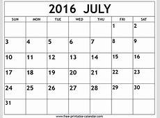 July 2016 Calendar Fotolipcom Rich image and wallpaper