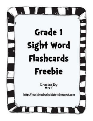 gradesightwordcardsfromteachingabudhabistyleon