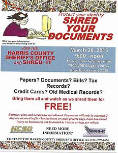 protect your identity shred your documents march 28 With who shreds documents for free