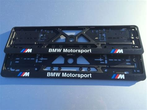 Bmw Number by Bmw Number Plate Surrounds M Sport Motorsport Pair M3 M5