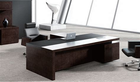 Best Leading Office Table In Leather & Wood Boss's Cabin
