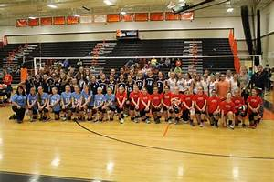 Middle school volleyball players compete at tournament ...
