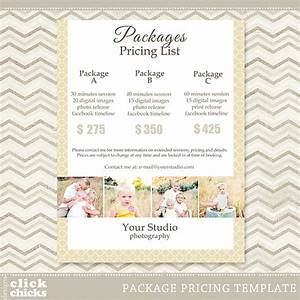 Photography package pricing list template 008 c061 for Wedding photo print packages