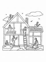 Coloring Building Pages sketch template