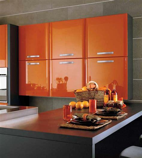 deco cuisine orange déco cuisine orange et gris