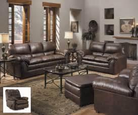 leather livingroom set geneva brown bonded leather living room furniture set
