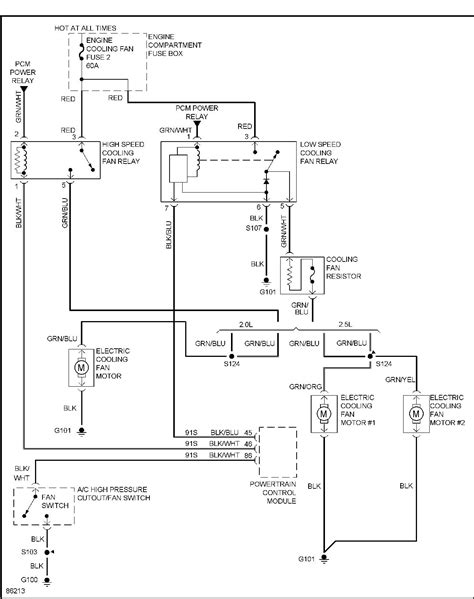 1997 Ford Contour Wiring Diagram by Ford Contour Fan Wiring Diagram