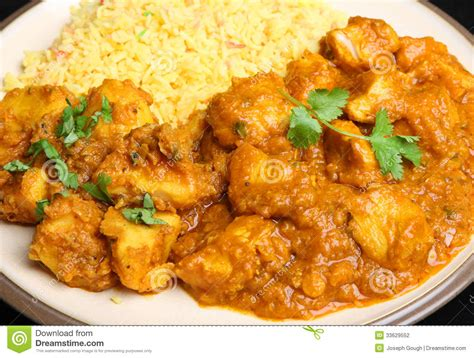cuisine poulet curry vert indian food chicken curry meal stock photo image 33629552