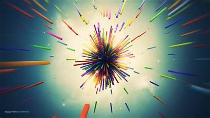 Explosion Abstract 3d Colorful Shapes Digital Wallpapers
