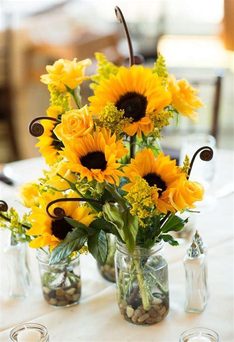rustic sunflower centerpieces ideas