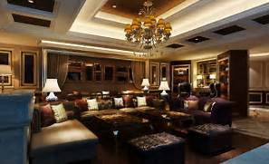 Luxurious Interior Design Classical Luxury Living Room Interior Design 3D Rendering