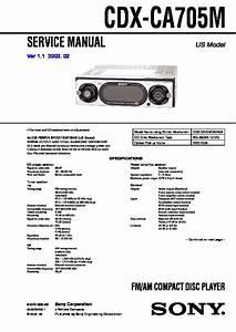 Sony Cdx-ca705m Service Manual