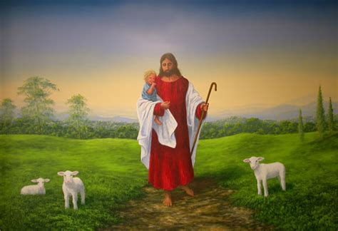 church murals jesus  children jesus  shepherd
