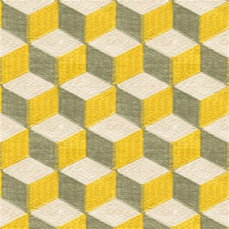 gray finish cabinets color blocks yellow grey geometric fabric dering
