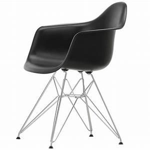 Vitra Eames Chair : vitra eames dar chair deep black chrome finnish ~ A.2002-acura-tl-radio.info Haus und Dekorationen