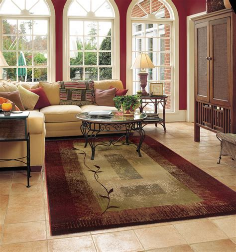 tips  place large rugs  living room