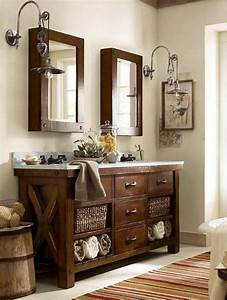 pottery barn style bathroom vanity home decor design With barn style bathroom lighting