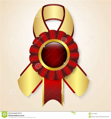 vector prize ribbon stock vector illustration  element