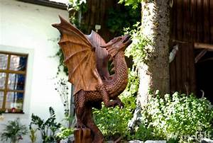 Holz Deko Garten : drachen deko aahrha h 96 cm garten drachen figur unikat handarbeit aus holz deko ~ Orissabook.com Haus und Dekorationen