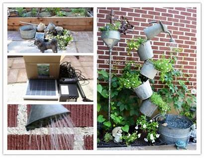 Fountain Solar Diy Garden Galvanized Tipsy Instructions
