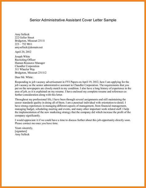 sle of cover letter doc cover letter exles standard