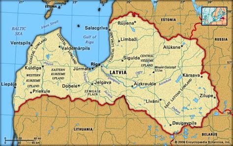 Latvia: location -- Kids Encyclopedia   Children's ...