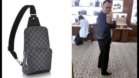 louis vuitton mens avenue sling bag unboxing damier