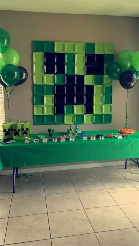 fun  colorful minecraft party ideas shelterness