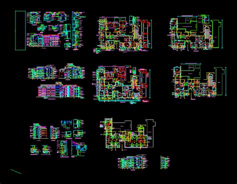 hospital building working drawings  autocad cad
