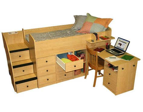 Low Loft Bed With Desk by Berg Furniture Captain S Low Loft Bed With Pull Out