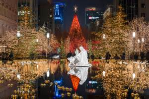 video time lapse of temple square clothed in christmas beauty