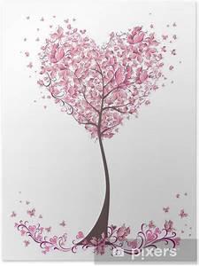 Baum Der Liebe : poster baum der liebe mit bl ttern von herz form hochzeiten karte pixers wir leben um zu ~ Eleganceandgraceweddings.com Haus und Dekorationen